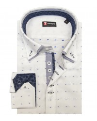 Camicia Marco Polo Oxford Bianco e Blu