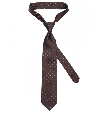 Ties Navona Silk Brown Light Blue