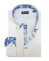 Shirt Donatello stretch poplin White