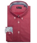 Shirt Leonardo Cotton BordeauxWhite