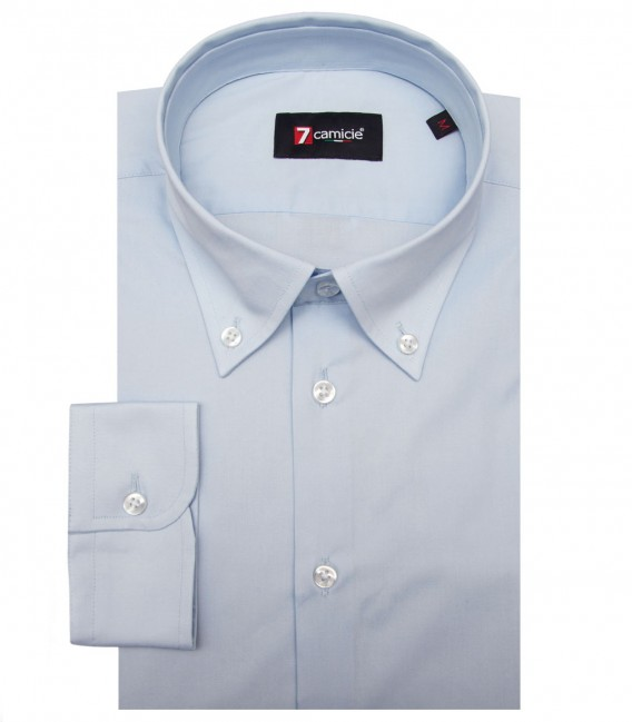 Shirt Leonardo stretch poplin Light Blue