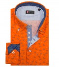 Shirt Roma Poplin Orange and Bluette
