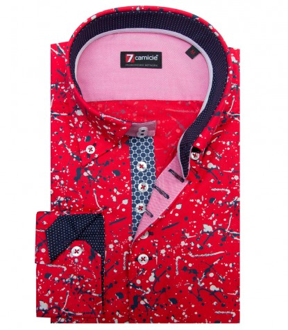 Shirt Roma Poplin RedBlue