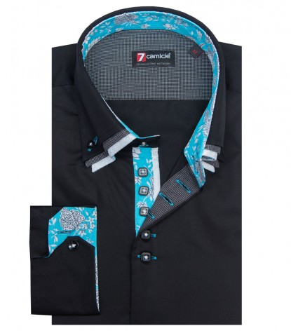 Shirt Vesuvio Satin Black