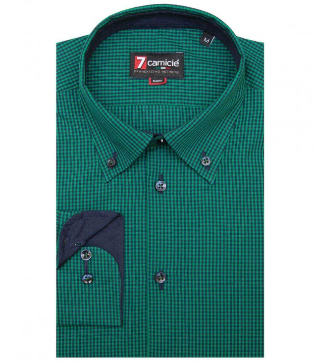 Shirt Leonardo Dark Green Blue