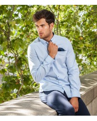 Shirt Tiziano poplin Light Blue