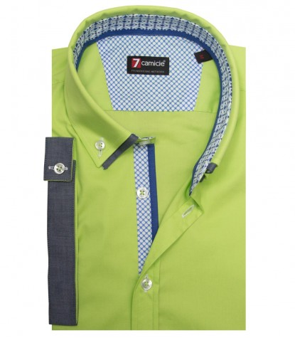 Shirt Leonardo stretch poplin Green