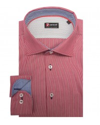 Shirt Firenze Weaved BordeauxWhite