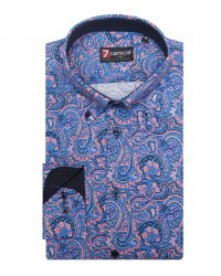 Shirt Leonardo Poplin BlueRed