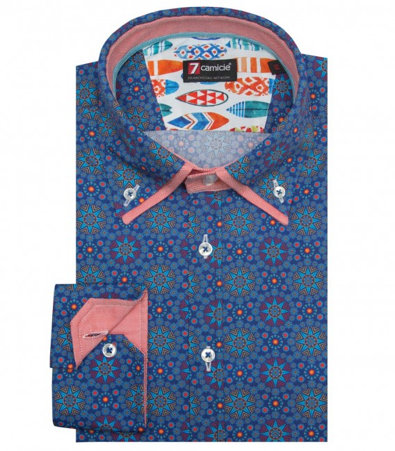 Shirt Marco Polo Poplin Ink and Red