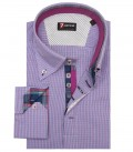 Shirt Roma Poplin White and Orchid