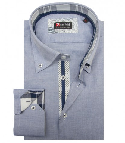 Camicia Roma Super oxford Blu