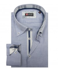 Chemises Roma super oxford Bleu