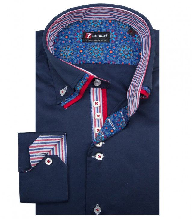 Shirt Vesuvio Satin Dark Blue