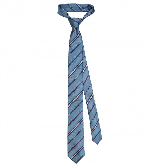 Ties Navona Silk Light Blue and Red