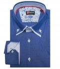 Chemises Marco Polo super oxford avion bleu