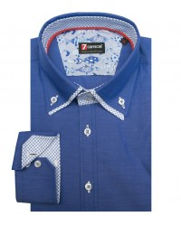 Camicia Marco Polo Super oxford Blu avion