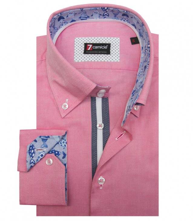 Chemises Roma Oxford Rouge clair