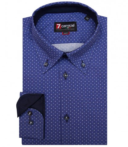 Shirt Napoli Poplin Light BlueWhite