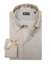 Chemises Roma Oxford Dove gris