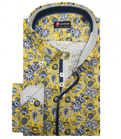Shirt Roma Poplin YellowWhite