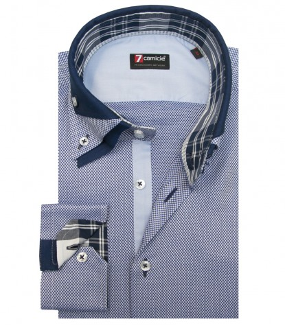 Shirt Vesuvio Weaved BlueWhite