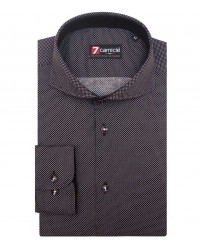 Shirt Napoli stretch poplin BlackWhite