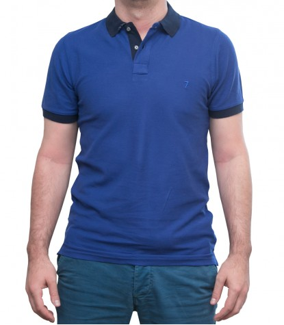Polo Bluette con colletto blu