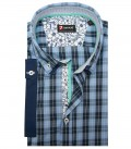 Shirt Leonardo Super oxford Medium Blue and Dark Blue