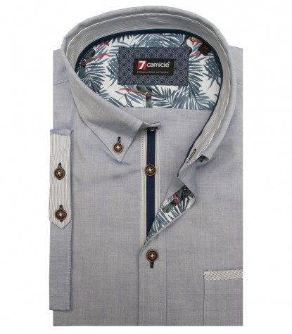 Camicia Leonardo Super oxford Blu