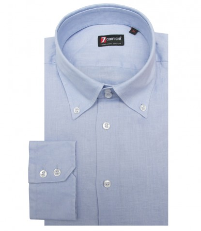 Shirt Roma Linen Light Blue