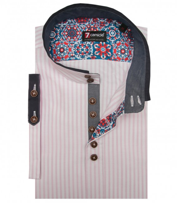 Shirt Caravaggio Oxford WhitePink