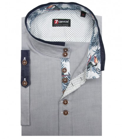 Shirt Caravaggio Oxford Medium grey