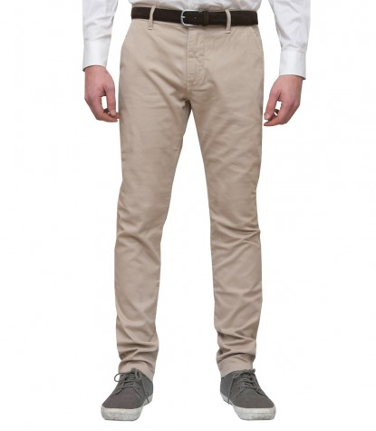 Beige men's trousers