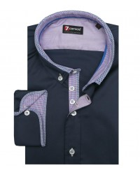 Shirt Leonardo Satin Dark Blue