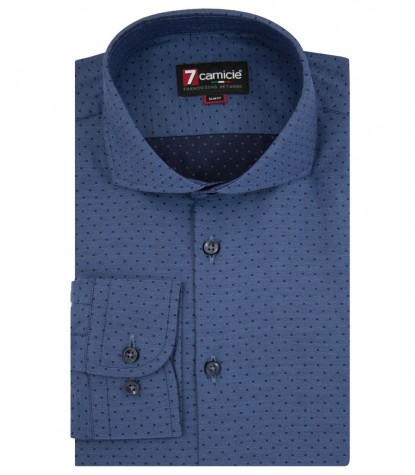 Shirt Napoli jacquard Light Blue Blue