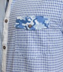 Shirt Leonardo Cotton WhiteLite Blue