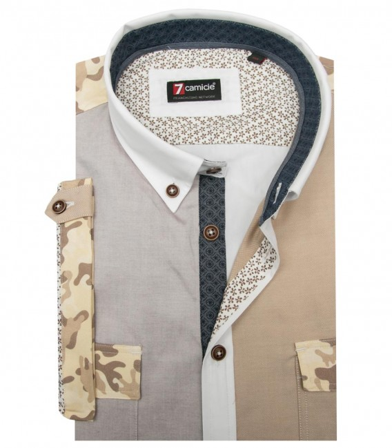 Shirt Leonardo Oxford Off White