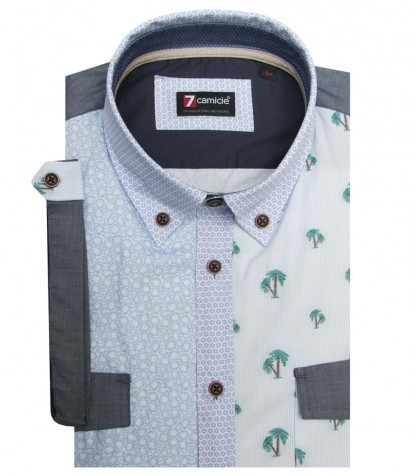 Shirt Leonardo Poplin WhiteBrown