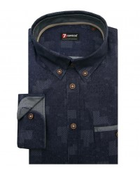 Shirt Leonardo Jeans Blue and Medium Grey