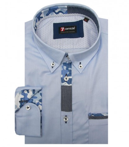 Shirt Leonardo Oxford Medium grey