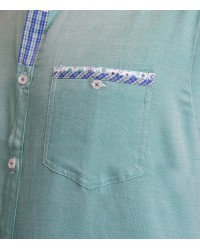 Shirt Caravaggio Poplin White and Heaven Blue