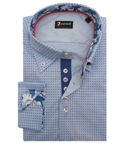 Shirt Roma Cotton Ligth BlueBlue