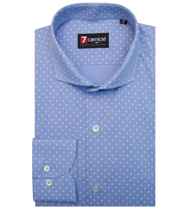 Shirt Napoli Cotton Light BlueWhite
