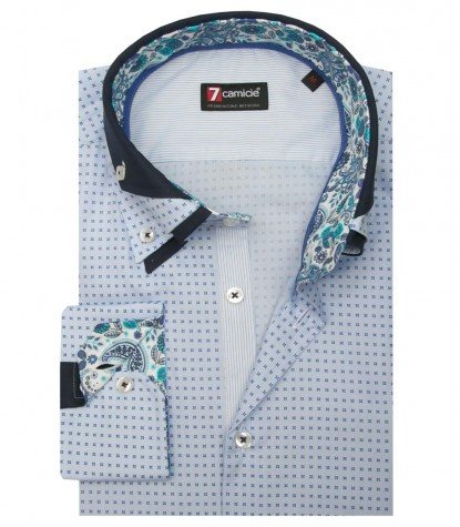 Shirt Vesuvio Cotton Ligth BlueBlue