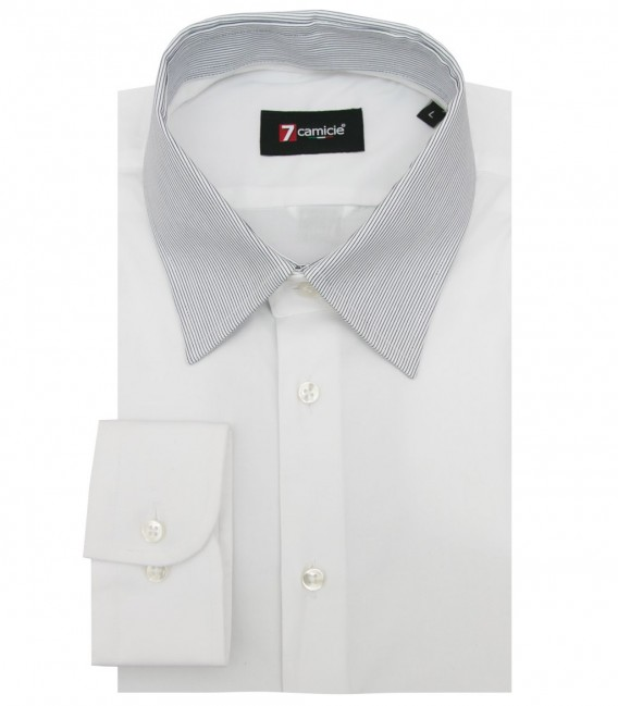 Shirt Caravaggio stretch poplin White