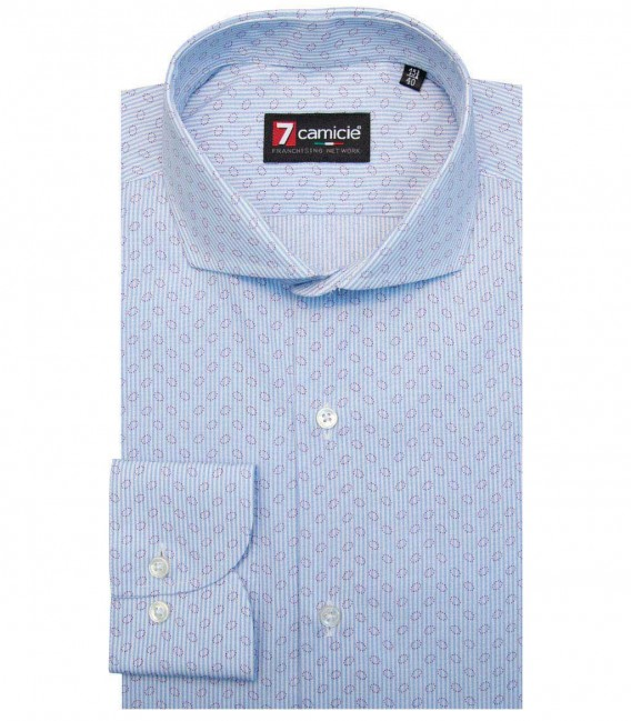 Shirt Napoli WhiteLite Blue