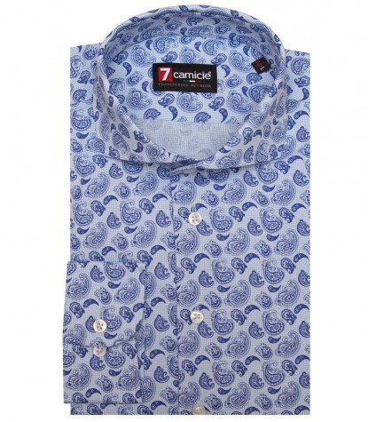 Shirt Napoli Cotton Ligth BlueBlue