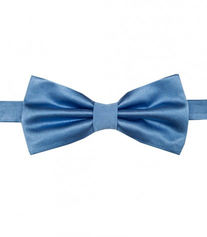 Stain Proof Bow Tie Roma Silk Light Blue