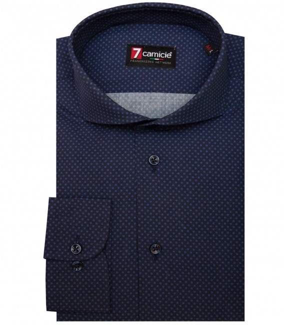 Shirt Napoli Cotton Blue Avion Blue